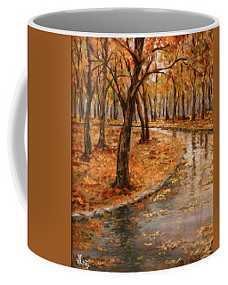 After Rain,walk In The Central Park Coffee Mug