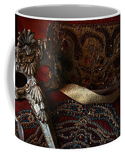 After The Ball - Venetian Mask Coffee Mug by Yvonne Wright