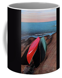 Coffee Mug featuring the painting After The Crossing by Kenneth M Kirsch