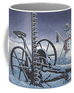 After The Harvest Snowman Coffee Mug by John Stephens
