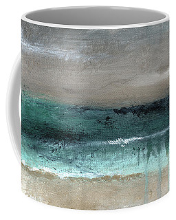 After The Storm 2- Abstract Beach Landscape By Linda Woods Coffee Mug