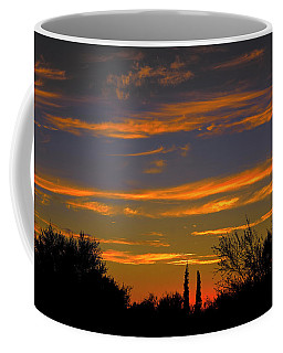 Coffee Mug featuring the photograph Afterglow Silhouette H49 by Mark Myhaver