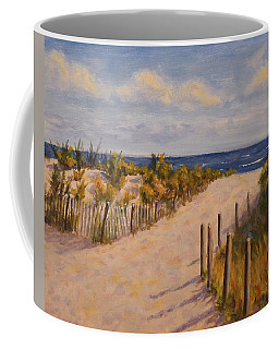 Coffee Mug featuring the painting Afternoon At The Beach by Joe Bergholm