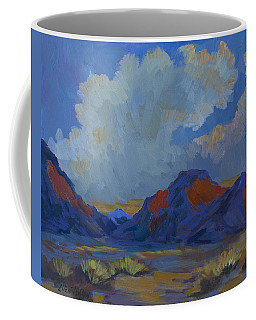 Coffee Mug featuring the painting Afternoon Light - La Quinta Cove by Diane McClary