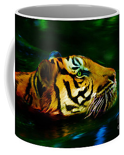 Afternoon Swim - Tiger Coffee Mug