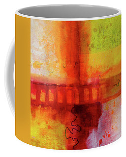Coffee Mug featuring the painting Afternoon Train by Nancy Merkle