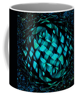 Agave Blues Abstract Coffee Mug