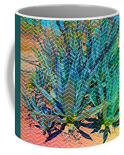Coffee Mug featuring the mixed media Agave by Michelle Dallocchio