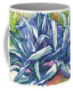 Coffee Mug featuring the painting Agave Tangle by Judith Kunzle