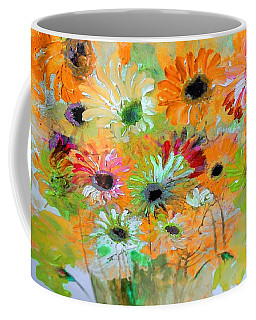 Coffee Mug featuring the painting Ahem Sneezy Floral by Lisa Kaiser