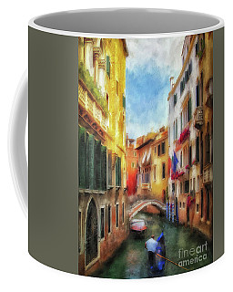Coffee Mug featuring the digital art Ahh Venezia Painterly by Lois Bryan