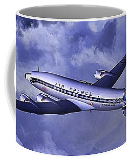 Coffee Mug featuring the digital art Air France Connie by James Weatherly