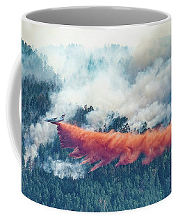 Air Tanker On Crow Peak Fire Coffee Mug