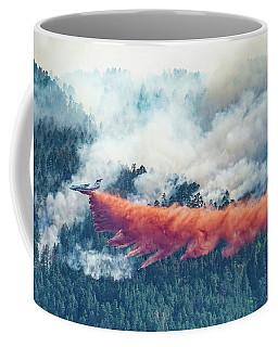 Air Tanker On Crow Peak Fire Coffee Mug