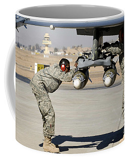 Airmen Inspect F-16 Fighting Falcon Coffee Mug