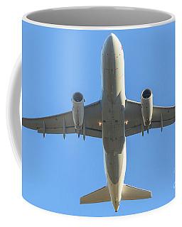 Airplane Isolated In The Sky Coffee Mug