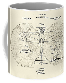 Airplane Patent Collage Coffee Mug by Delphimages Photo Creations
