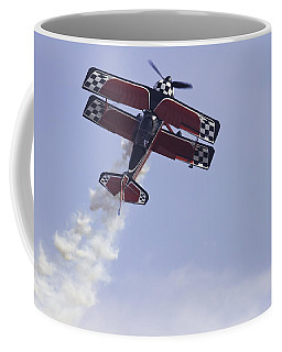 Airplane Performing Stunts At Airshow Photo Poster Print Coffee Mug by Keith Webber Jr