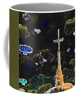 Airships At Night Coffee Mug