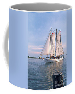 Coffee Mug featuring the photograph Aj Meerwald Sailing Up River by Nancy Patterson