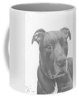 Ajax Graphite Dog Portrait  Coffee Mug