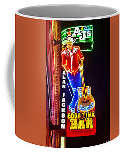 Coffee Mug featuring the photograph Aj's Good Time Bar by Lisa Wooten