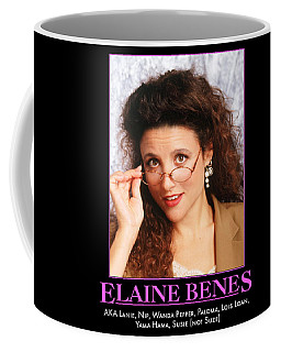 A.k.a. Elaine Benes Coffee Mug by Paul Van Scott