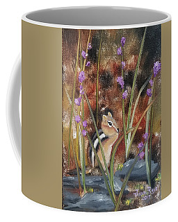Coffee Mug featuring the painting Al Fresco Dining With A View by Judith Rhue