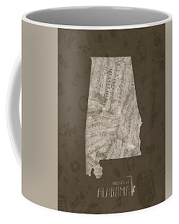 Alabama Map Music Notes 2 Coffee Mug