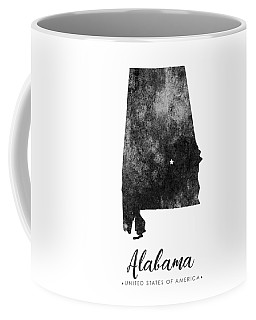 Alabama State Map Art - Grunge Silhouette Coffee Mug