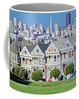 Coffee Mug featuring the photograph Alamo Square by Matthew Bamberg