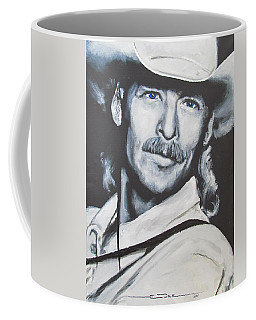 Coffee Mug featuring the painting Alan Jackson - In The Real World by Eric Dee