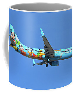 Alaska 737-990 N318as Spirit Of Disneyland Phoenix Sky Harbor November 27 2017 Coffee Mug