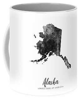 Alaska State Map Art - Grunge Silhouette Coffee Mug