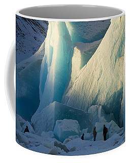 Coffee Mug featuring the photograph Alaskan Glacier Last Rays Of Light by Yulia Kazansky