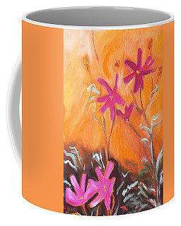 Coffee Mug featuring the painting Alba Daisies by Winsome Gunning