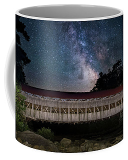 Albany Covered Bridge Under The Milky Way Coffee Mug