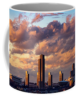 Coffee Mug featuring the photograph Albany Sunset Skyline by Brad Wenskoski