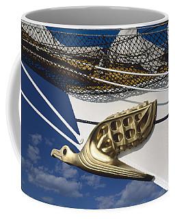 Coffee Mug featuring the photograph Albatross Figurehead by Heiko Koehrer-Wagner
