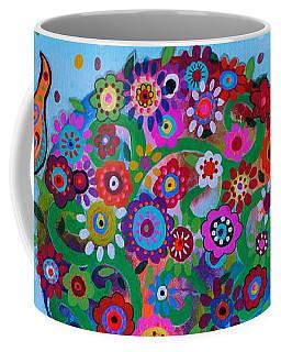 Coffee Mug featuring the painting Albero Della Vita by Pristine Cartera Turkus