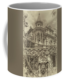 Coffee Mug featuring the photograph Albert Chamas Villa by Nigel Fletcher-Jones