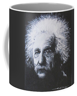 Coffee Mug featuring the painting Albert Einstein by Eric Dee
