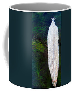 Albino Peacock Coffee Mug by LaVonne Hand