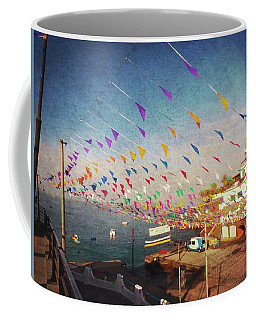 Alcala Harbour With Flags Coffee Mug