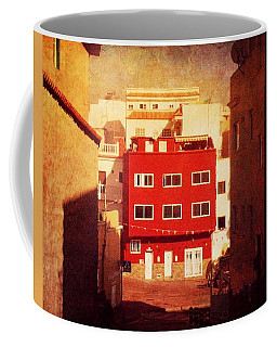 Coffee Mug featuring the photograph Alcala Red House No1 by Anne Kotan