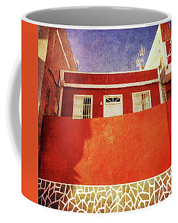 Coffee Mug featuring the photograph Alcala Red House No2 by Anne Kotan