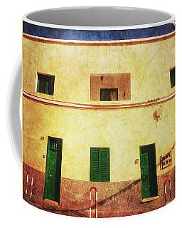 Alcala Yellow House With Green Doors Coffee Mug