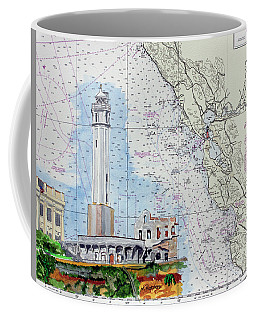 Alcatraz Lighthouse Coffee Mug by Mike Robles