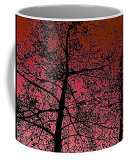Alder Trees Against The Winter Sunrise Coffee Mug