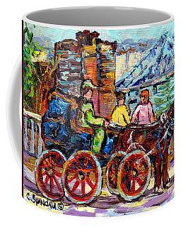 Caleche Ride To Beaver Lake Observatory Lookout Jacques Cartier Bridge Montreal Skyline C Spandau  Coffee Mug